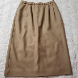 Tan Wool Skirt.